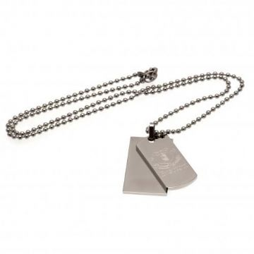Everton Double Dog Tag & Chain